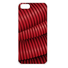 Tube Plastic Red Rip Apple Iphone 5 Seamless Case (white) by Celenk