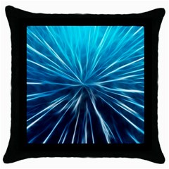 Background Structure Lines Throw Pillow Case (black)