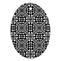 Fabric Design Pattern Color Oval Ornament (two Sides)