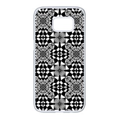 Fabric Design Pattern Color Samsung Galaxy S7 Edge White Seamless Case