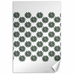 Graphic Pattern Flowers Canvas 24  X 36