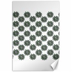 Graphic Pattern Flowers Canvas 24  x 36  36 x24  Canvas - 1