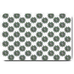 Graphic Pattern Flowers Large Doormat  by Celenk