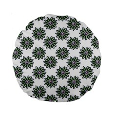 Graphic Pattern Flowers Standard 15  Premium Round Cushions by Celenk