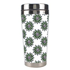 Graphic Pattern Flowers Stainless Steel Travel Tumblers by Celenk