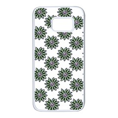 Graphic Pattern Flowers Samsung Galaxy S7 White Seamless Case