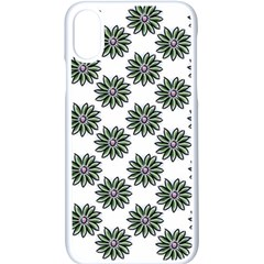 Graphic Pattern Flowers Apple Iphone X Seamless Case (white)