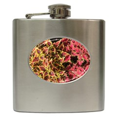 Plant Leaves Foliage Pattern Hip Flask (6 Oz) by Celenk