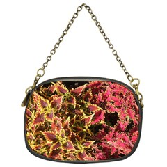 Plant Leaves Foliage Pattern Chain Purse (one Side) by Celenk