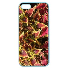 Plant Leaves Foliage Pattern Apple Seamless Iphone 5 Case (color) by Celenk