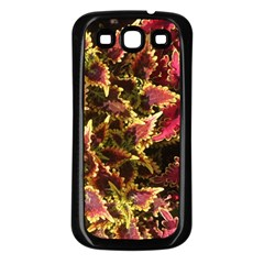 Plant Leaves Foliage Pattern Samsung Galaxy S3 Back Case (black) by Celenk