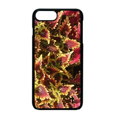 Plant Leaves Foliage Pattern Apple Iphone 7 Plus Seamless Case (black)
