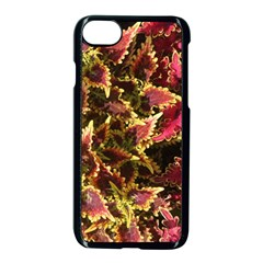 Plant Leaves Foliage Pattern Apple Iphone 7 Seamless Case (black)