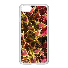 Plant Leaves Foliage Pattern Apple Iphone 8 Seamless Case (white) by Celenk