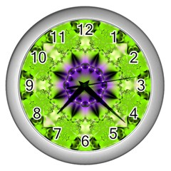 Abstract Background Art  Pattern Wall Clock (silver)
