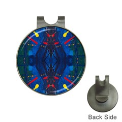 Kaleidoscope Art Pattern Ornament Hat Clips With Golf Markers by Celenk