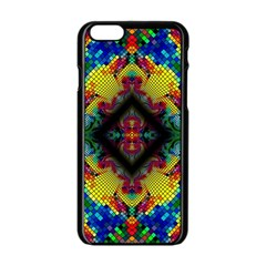 Kaleidoscope Art Pattern Ornament Apple Iphone 6/6s Black Enamel Case
