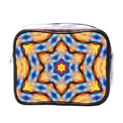Pattern Abstract Background Art Mini Toiletries Bag (one Side) by Celenk