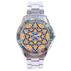 Pattern Abstract Background Art Stainless Steel Analogue Watch by Celenk