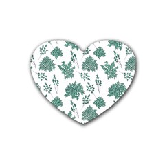 Flower Pattern Pattern Design Heart Coaster (4 Pack)