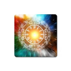 Universe Galaxy Sun Clock Time Square Magnet