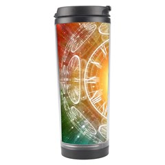 Universe Galaxy Sun Clock Time Travel Tumbler by Celenk