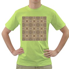 Abstract Wood Design Floor Texture Green T Shirt