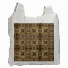 Abstract Wood Design Floor Texture Recycle Bag (one Side)