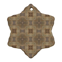 Abstract Wood Design Floor Texture Ornament (snowflake) by Celenk