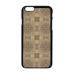 Abstract Wood Design Floor Texture Apple Iphone 6/6s Black Enamel Case
