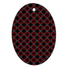 Pattern Design Artistic Decor Ornament (oval) by Celenk