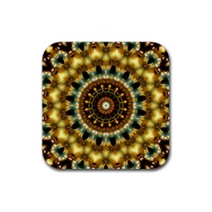 Pattern Abstract Background Art Rubber Square Coaster (4 Pack)  by Celenk