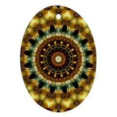 Pattern Abstract Background Art Oval Ornament (two Sides) by Celenk