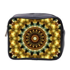 Pattern Abstract Background Art Mini Toiletries Bag (two Sides) by Celenk