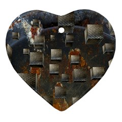 Background Metal Pattern Texture Ornament (heart)