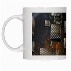 Background Metal Pattern Texture White Mugs by Celenk