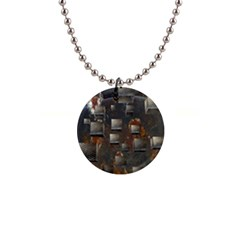 Background Metal Pattern Texture Button Necklaces