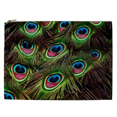 Peacock Feathers Color Plumage Cosmetic Bag (xxl) by Celenk