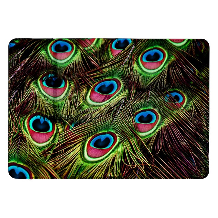 Peacock Feathers Color Plumage Samsung Galaxy Tab 8.9  P7300 Flip Case