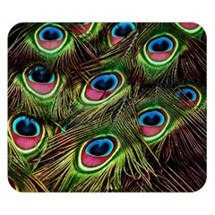 Peacock Feathers Color Plumage Double Sided Flano Blanket (small)  by Celenk