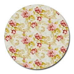 Background Pattern Flower Spring Round Mousepads by Celenk