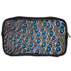 Peacock Pattern Close Up Plumage Toiletries Bag (two Sides) by Celenk