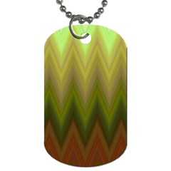 Zig Zag Chevron Classic Pattern Dog Tag (one Side) by Celenk
