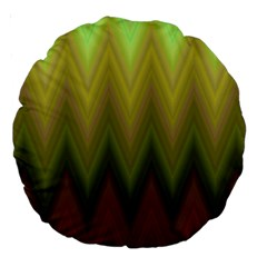 Zig Zag Chevron Classic Pattern Large 18  Premium Round Cushions by Celenk