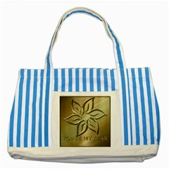 You Are My Star Striped Blue Tote Bag by NSGLOBALDESIGNS2