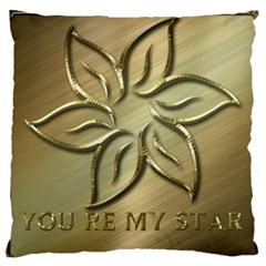 You Are My Star Large Flano Cushion Case (two Sides)