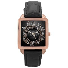 Jesus Rose Gold Leather Watch  by NSGLOBALDESIGNS2
