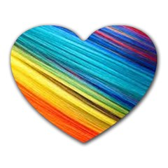 Rainbow Heart Mousepads by NSGLOBALDESIGNS2