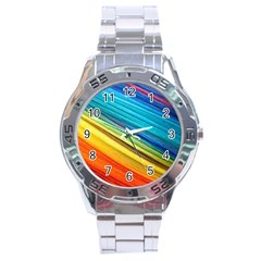 Rainbow Stainless Steel Analogue Watch by NSGLOBALDESIGNS2