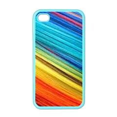 Rainbow Apple Iphone 4 Case (color) by NSGLOBALDESIGNS2